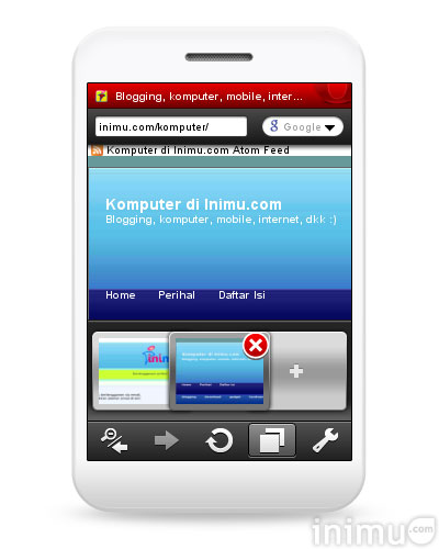 Screenshot Opera Mini 5 Inimu.com/komputer