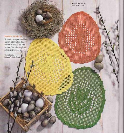 Салфетки к пасхе в форме яйца.