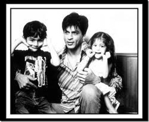 shahrukh khan and childs