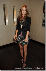 Rosie Huntington-Whiteley Burberry and GQ Dinner Oct 08 (8)