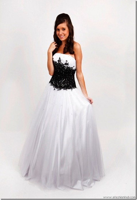 Larissa, also in Turquoise & White or Pink & White-Prom dress and ballgown