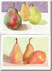 postcards pears