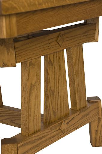Shenzen Table Detail in Medium Oak