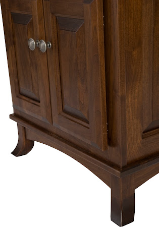 Rochester Nightstand with Doors, Shown in Blackened Oak