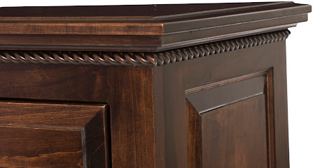 Hudson Nightstand with Drawers, Onyx Maple
