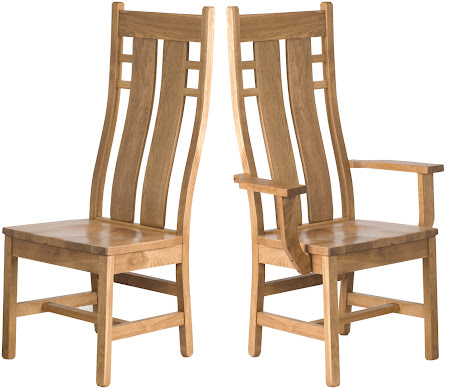 Seneca Chair in Rustic Oak