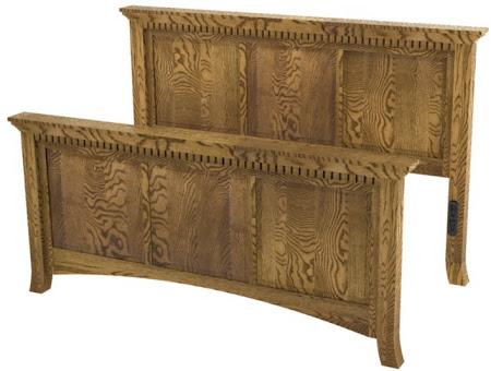 Lisbon Bed Frame in   Mahogany Oak
