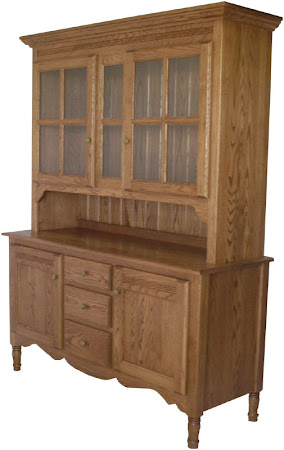 "84"" high x 74"" wide x 20"" deep Farmhouse China Cabinet in Medium Oak"