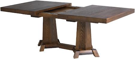 70 x 46 Turin Dining Table, Timber Edge, Oak Hardwood, Mahogany Finish