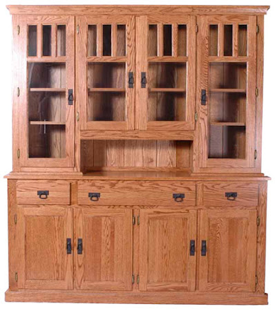 Mission China Cabinet in Medium Oak