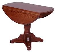 round riverside drop leaf table