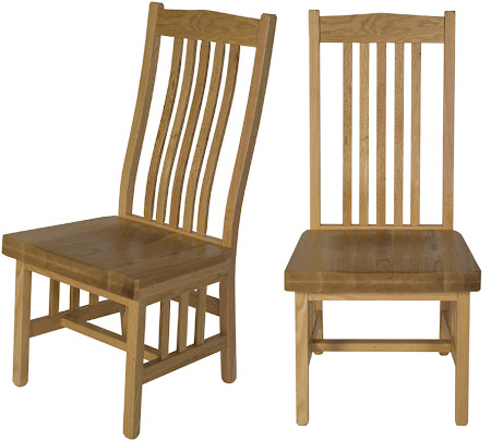 Raised Mission Dining Chair in Natural Cherry