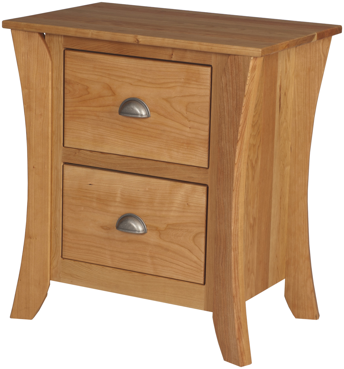 Kyoto nightstand with drawers solid wood nightstand in for Wood nightstand with drawers