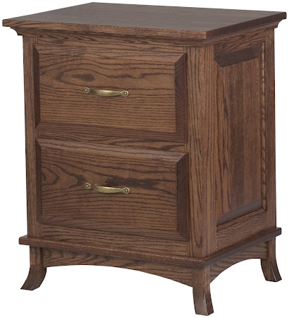 Rochester Nightstand with Drawers in Lexington Oak