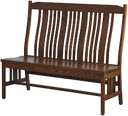 plains mission back dining bench
