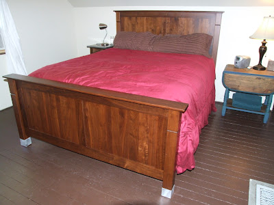 walnut bed frame