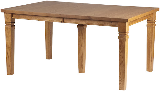 "60"" x 42"" Corsica Table in Honey Oak, Shown with Center Leg to Support Additional Leaves"