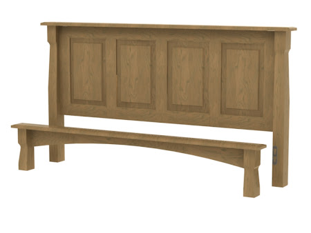 Catalina Platform Bed in Natural Cherry