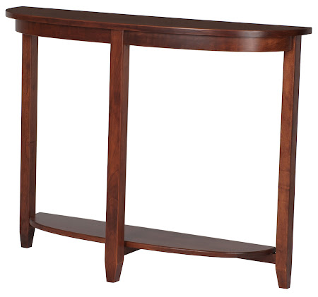 Granada Sofa Table in Chocolate Cherry, Shown with Bottom Shelf