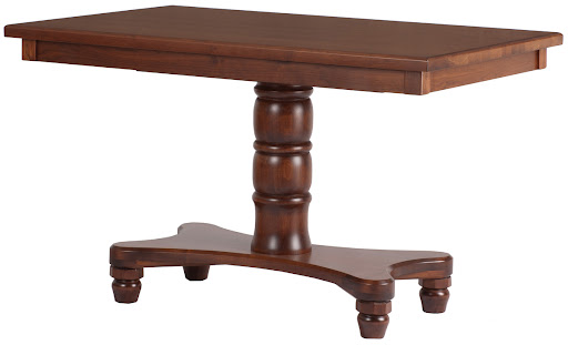 "50"" x 32"" Lotus Dining Table in Ruby Walnut"