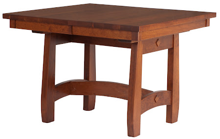 Montreal Dining Table in Red Cherry