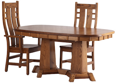 "60"" x 42"" Turin Table and Seneca Chairs in Rustic Oak, Oval Tabletop"