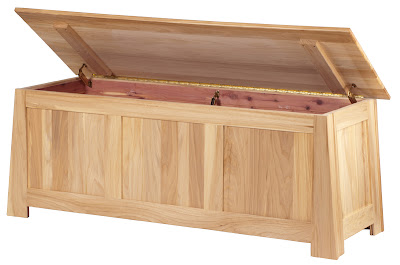 Teton Cedar Chest Shown in Natural Grey Elm