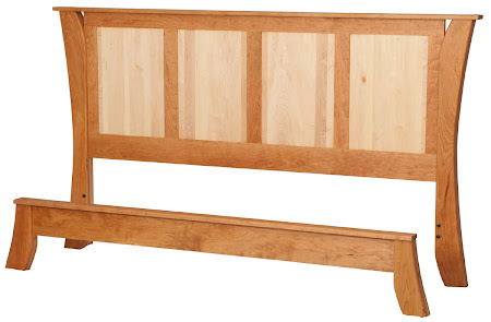 Kyoto Platform Bed in Natural Cherry and Hard Maple