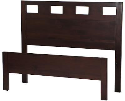 Dakota Bed Frame in Mocha Walnut