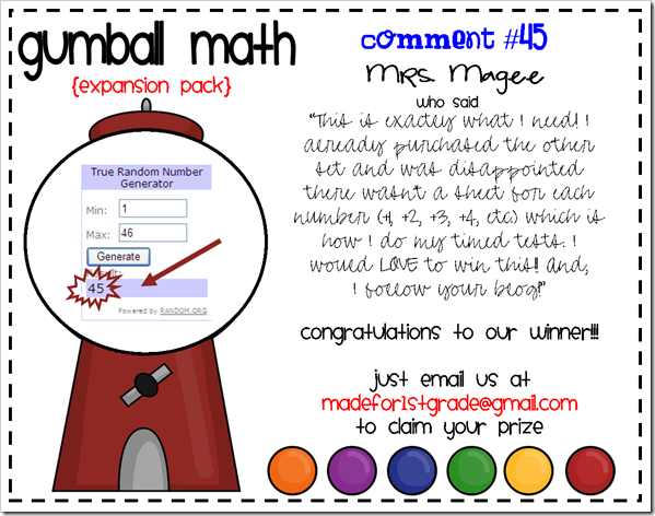 gumball math expansion pack winner