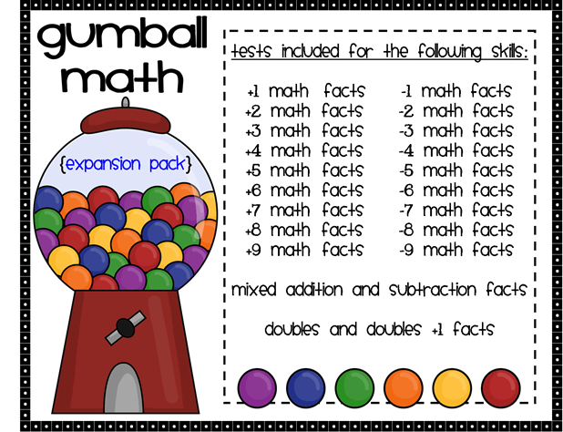 There are 22 tests included in the new Gumball Math {Expansion Pack ...