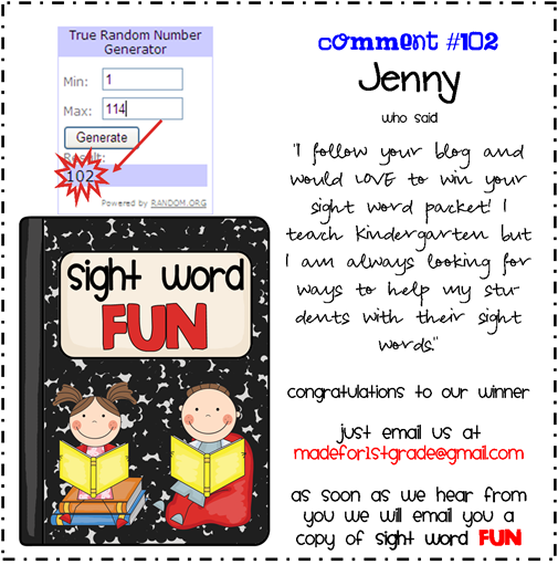 sight word fun winner