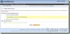 Surveymonkey on Cyber-Net