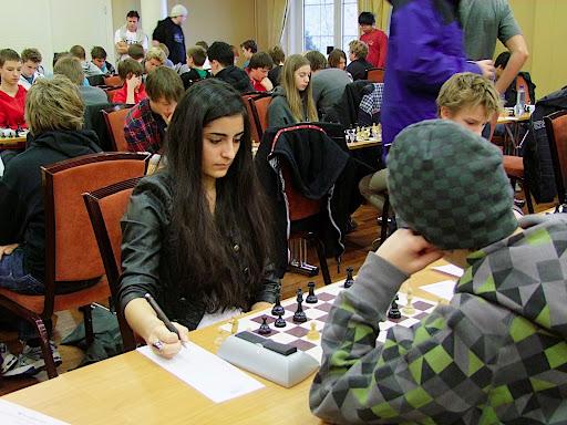 Anita Gholami tok 3,5 poeng og 50 % i gruppe C. Foto: Hans-Ottar Riiser