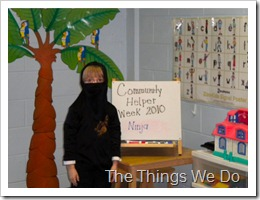 Community Helper week Ninja
