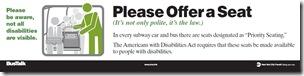 Por favor, ofrezca su asiento (autobuses)