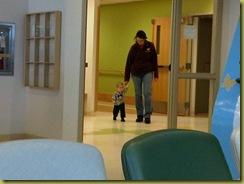 walking hospital halls