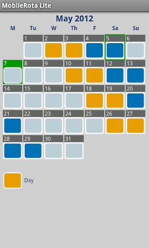 MobileRota Lite Shift Rota App