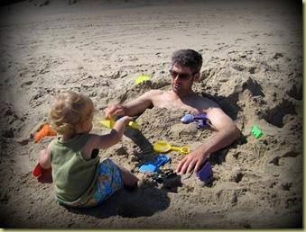 daddy & seb beach