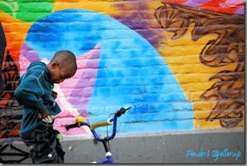 Boy n mural