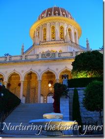 Shrine of the Bab at sunset, Haifa, Israel