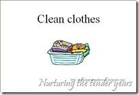 Clean clothes card