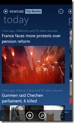 News360  Windows Phone 7 App - 1