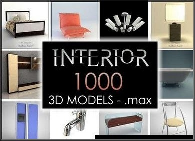 1000 interior models – free 3d max download