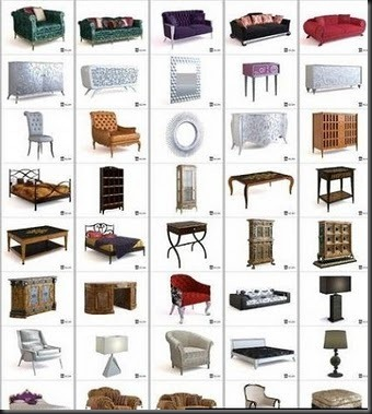 3ds Max Home Furniture Collection – free 3d max download