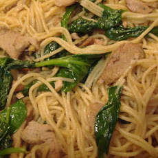 Sesame Noodles With Roast Pork
