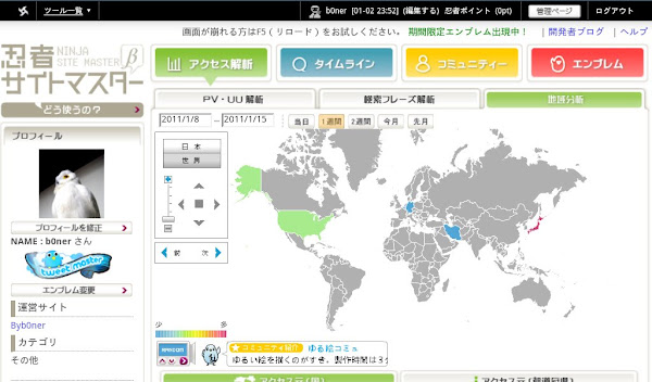 忍者サイトマスター(地域分析マップ)