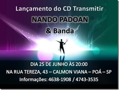 Cartaz Lançamento do CD Transmitir