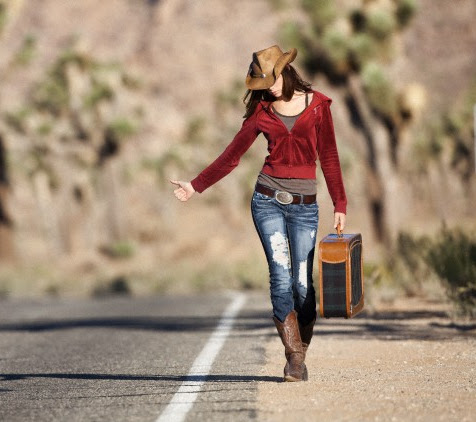 Mulher viajando