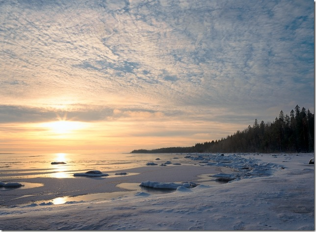 holkham beach.snow